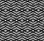 Monochrome visual abstract textured geometric seamless pattern. Stock Photos