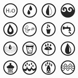 Monochrome water symbols Stock Images
