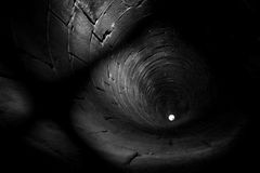 Monochrome well. A well, more than 90 meter deeply Royalty Free Stock Images
