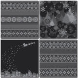 Monochrome winter patterns Royalty Free Stock Image