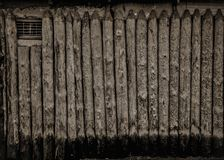 Monochrome wooden fence stock photo
