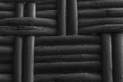 Monochrome Wooden wicker texture of basketwork for background use Stock Images