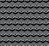 Monochrome zigzag abstract textured geometric seamless pattern. Stock Photos