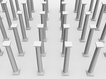 Monochromic image of classic columns Stock Images
