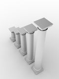 Monochromic image of classic columns Royalty Free Stock Photo