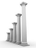 Monochromic image of classic columns Royalty Free Stock Photos