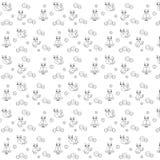 Monochrompatroon met uilen vector illustratie