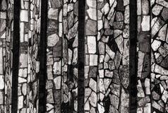 Monochromrückseite und wite Bild der unterschiedlichen Farbe zementierten Steinfliesen, die c Lizenzfreie Stockbilder