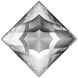 Monochromu fractal deseniowy tło Obrazy Royalty Free