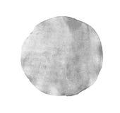 Monochromu okręgu popielata akwarela odizolowywająca Obrazy Royalty Free