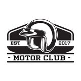 MONOCHROMU silnika klubu emblemat Fotografia Royalty Free