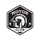 MONOCHROMU silnika klubu emblemat Fotografia Stock