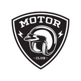 MONOCHROMU silnika klubu emblemat Zdjęcia Stock