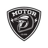 MONOCHROMU silnika klubu emblemat Zdjęcie Royalty Free