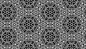 Monochromu wzór z kwiatami Zdjęcia Royalty Free