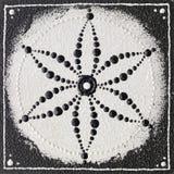 Monochromu ziarno życie symbol Zdjęcia Royalty Free