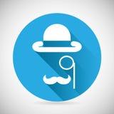 Monocle de chapeau de lanceur de symbole d'accessoires de monsieur Images libres de droits