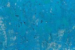 Monocolor blue painted flat concrete surface closeup texture.  royalty free stock photo