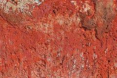 Monocolor orange painted flat concrete surface closeup texture.  stock photo