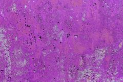 Monocolor pink painted flat concrete surface closeup texture.  royalty free stock photos