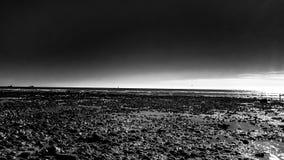 Monocromio della spiaggia Fotografia Stock Libera da Diritti