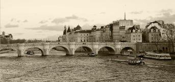Monocromio di Parigi Fotografie Stock