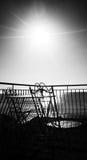 Monocromo del mar Sun y del balcón Fotos de archivo