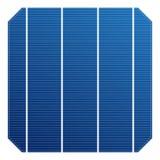 Monocrystalline sol- cell för solpanel Effektivitet för sol- beståndsdel för vektor hög Elektrisk beståndsdel för laddningsbatter royaltyfri illustrationer