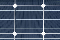 Monocrystalline solar cell. Makro of a monocrystalline solar cell royalty free stock photos