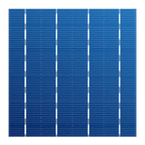 Monocrystalline solar cell for solar modules. Vector photovoltaic system element. Electric element for charge battery Royalty Free Stock Photography