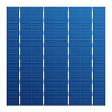 Monocrystalline zonnecel voor zonnemodules Vector photovoltaic systeemelement Elektrisch element voor lastenbatterij Royalty-vrije Stock Fotografie