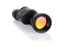 Monocular isolated on white. Military colored monocular isolated on white background Stock Image