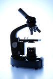 Monocular microscope with its own light source Royalty Free Stock Photography