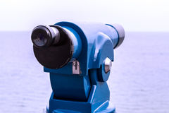Monocular. To watch the sea Royalty Free Stock Image