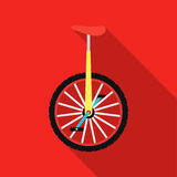 Monocycle icon in flat style isolated on white background. Circus symbol stock vector illustration. Stock Photo