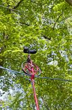Monocycle on a rope Stock Image