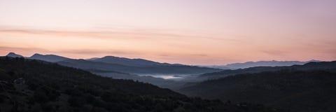 Monodendri约阿尼纳Pindus山 库存图片