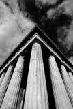 Monoeckspalten des Tempels von Hephaistos Stockbilder