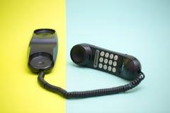Monofone e telefone fixo com disqu de tom foto de stock royalty free