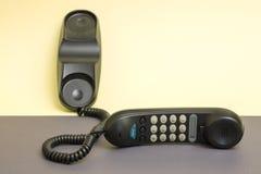 Monofone e telefone fixo com disqu de tom fotografia de stock