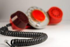 Monofone vermelho velho imagem de stock royalty free
