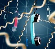 Monofones de telefone retros Imagens de Stock