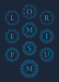 Monogramów logów wektoru Ustalony Graficzny projekt ilustracji