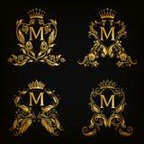 Monogramów logowie ustawiający Zdjęcie Stock