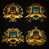 Monogramów logowie ustawiający Obrazy Royalty Free