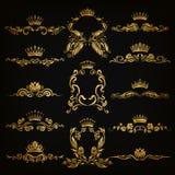 Monogramów logowie ustawiający Obraz Royalty Free