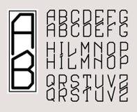 Monogram Art Nouveau and a set  of letters Stock Photos