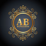Monogram background design. Illustration eps10 graphic Stock Illustration
