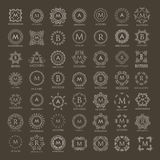 Monogram collection for design projects Royalty Free Stock Photo
