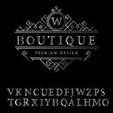 Monogram design elements, English letters Royalty Free Stock Image